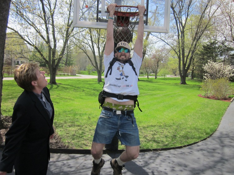 So cool that I can dunk.